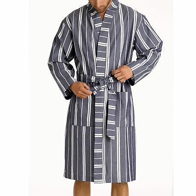 New Men's Woven Stripe Robe  by Mitch Dowd