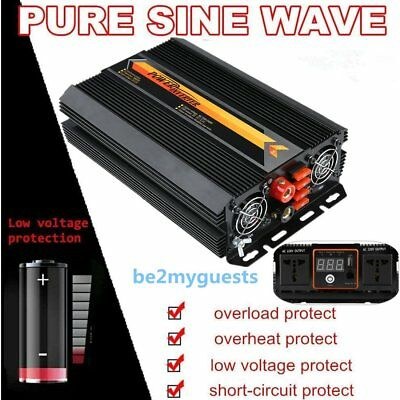 5000W Max 4000W Power Inverter Pure Sine Wave DC 12V to AC 240V Power Display ZD