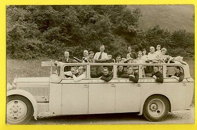 cpa FRANCE Postcard RPPC CARTE PHOTO RAOUL à LOURDES Voiture Auto car Touristes