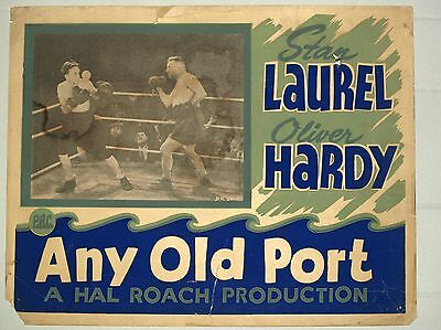 Theatre Lobby Card - Any Old Port