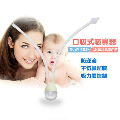 Newborn Baby Safety Nose Cleaner Vacuum Suction Nasal Aspirator Flu Protection S