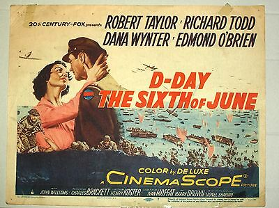 Theatre Lobby Card - D-Day The Sixth of June