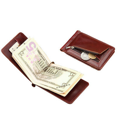 Baellerry ® Men Thin Bifold Money Clip Leather Wallet ID Credit Card Holde