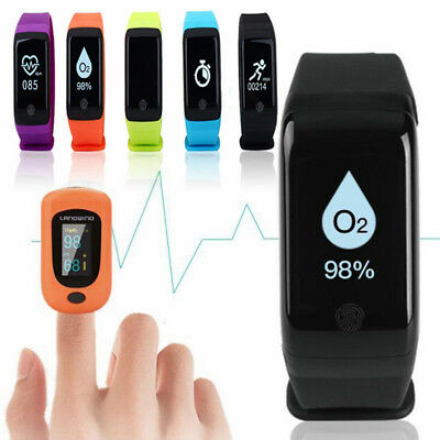 Heart Rate/Blood Pressure/Oxygen Monitor Pedometer Activity Tracker Sport Watch