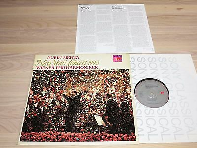 Zubin Mehta LP - NEW YEAR'S CONCERT 1990 / Sony Sample Press Stereo in Mint