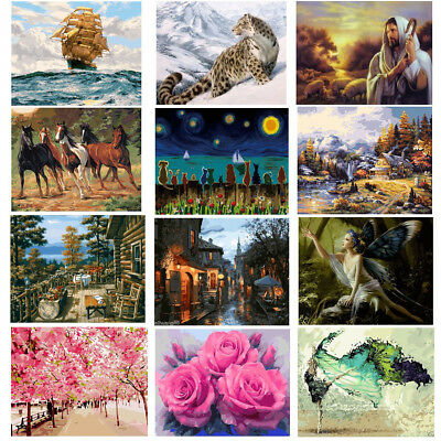 16X20'' Acrylic Paint By Number Kit DIY Oil Painting Canvas Digital Home Decor