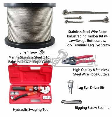 Stainless Steel Balustrading Wire rigging bottle screw jaw swage fork hydraulic