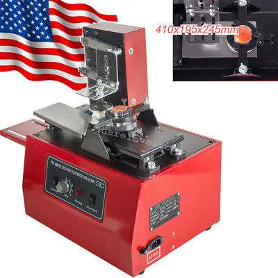 11 in1 Electric Pad Printer Printing Machine Printing T-shirt Ball Pen Light USA