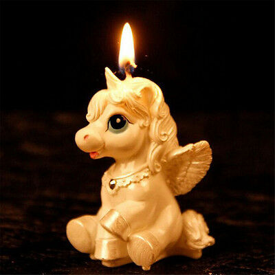 Unicorn Horse Kids Happy Birthday Candle Party Cake Topper Decoration Candles HE