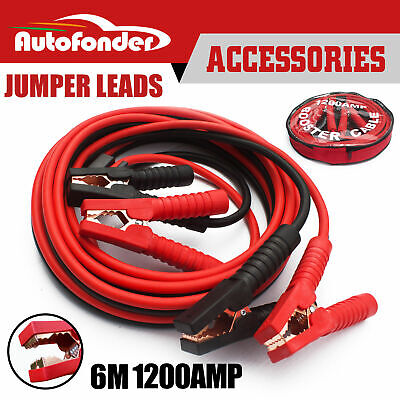 Heavy Duty 1200AMP 6M Long Jumper Leads Surge Protected Jump Car Booster Cables