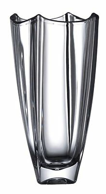E93348 Galway Dune Crystal Square Vase 12 Inch (0124)
