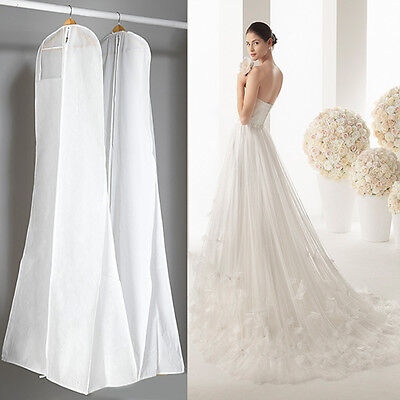 160CM Wedding Dress Anti-Dust Storage Bag Garment Bridal Gown Cover Protector