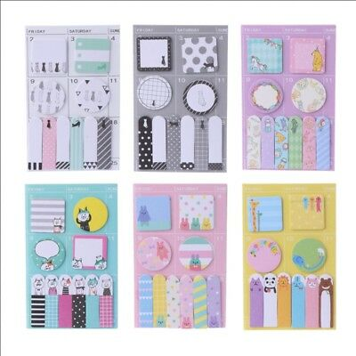 Animal Schedule Maker Weekly Planner Sticker Sticky Notes Memo Pad Bookmark Gift