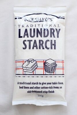 Kershaws Laundry Starch 200g - Gives Linen a Crisp Finish & Great For Slime