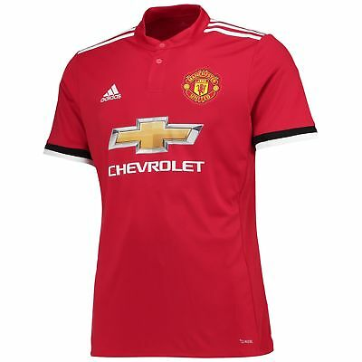 adidas Manchester United Home Shirt 2017-18 Mens Gents Football Jersey Top