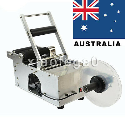 MT-50 Semi-Automatic Round Bottle Labeling Machine Labeler Scrolling Portable AU