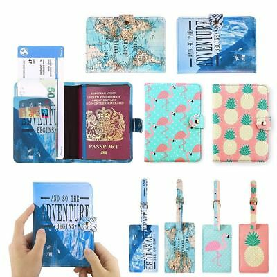 Passport Cover Wallet Card Holder/Luggage Name Address ID Tag Travel Accessories
