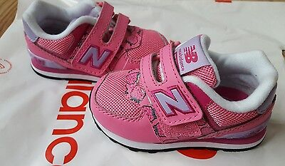 Girls New Balance Pink Trainers / Sneakers Size 4.5 Infant Brand New