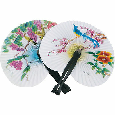 Paper Fan Traditional Chinese Style Fold Out Elegant Playwrite Random Design
