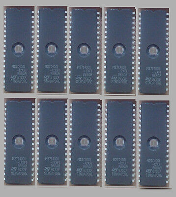 Eproms M27C4001-12 Erased And Blank Checked 10 Pieces