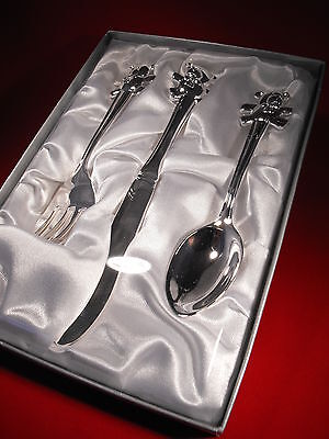 Baby Girl /  Boy Silver Christening Fork And Spoon Set  Christening Gift Present