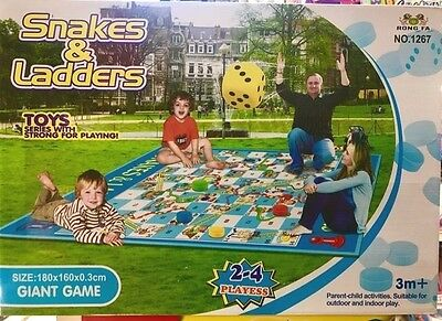 Giant Garden Snakes and Ladders Children's Outdoor Family Board Game