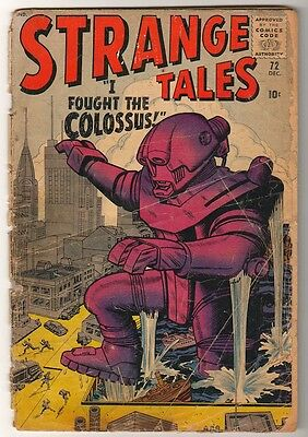 Marvel Comics G STRANGE TALES #72 Pre Hero look protype Colossus x men