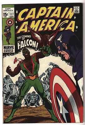 MARVEL Comics VFN 8.0 1st FALCON RARE BOOK Avengers 117 Captain america