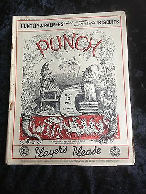Vintage Punch Magazine June 13 1945 Wartime issue
