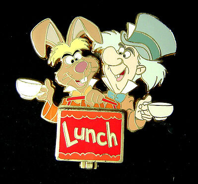 Mad Hatter March Hare Lunchbox Disney Auctions Pin LE 100 OC Dormouse DA