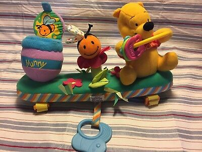 Disney Baby Winnie the Pooh Crib Stroller Attachable Plush Activity Toy Plush