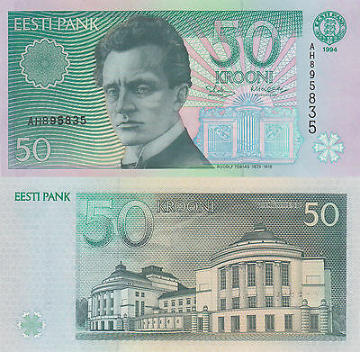 Estonia 50 Kroon (1994) - Composer/Opera House/p78a UNC