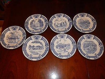 The Citadel: Decorative Plates by Wedgewood,  Set of 7 only