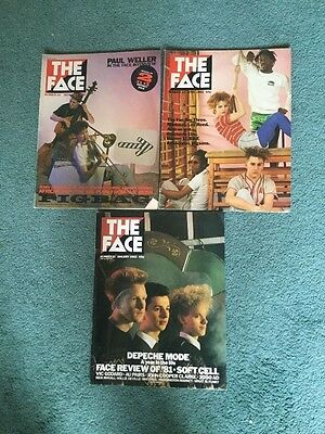 The Face Magazine - Volume 1 . 3 issues.  Nos  21, 24 and 25. 1982