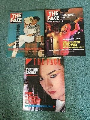The Face Magazine - Volume 1 . 3 issues.  Nos  26, 27 and 31. 1982