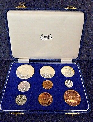 1960 South Africa 9 Coin Proof Set in Original Mint Case ** FREE U.S. SHIPPING*