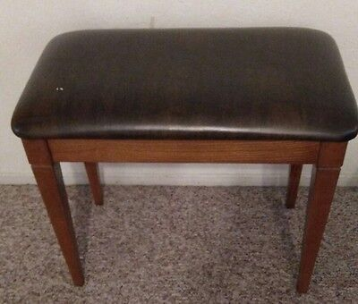 Antique Wurlitzer Piano Stool Bench Chair With Lid padded