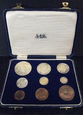 1952 South Africa 9 Coin Proof Set in Original Mint Case ** FREE U.S. SHIPPING*