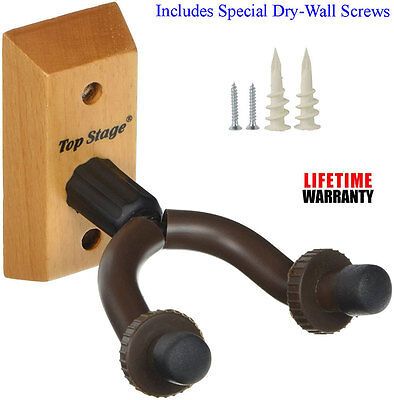 Lot Guitar Hanger Stand Holder Hooks Display Wall Mount Heavy Duty