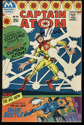 Captain Atom #83 VG+ 4.5 W Pages 1st Ted Kord Blue Beetle Modern Comics Reprint