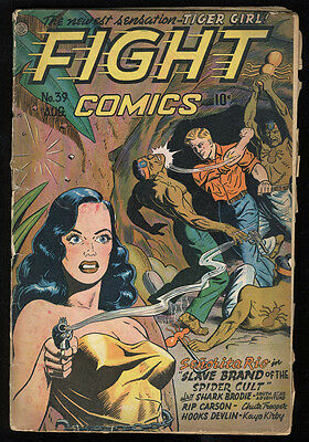 Fight Comics #39 FR/GD 1.5 CR Pages Great Headlights cover