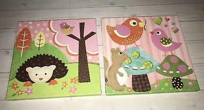 Oopsy Daisy Small Canvas Art Hedgehog Pal & Bird Buddies Circo Target