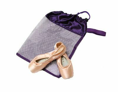 Horizon Dance Ballet Mesh Pointe Shoe Bag - Purple - USA Seller - Free Shipping