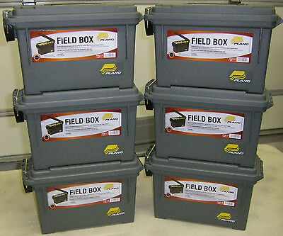 Plano 1312-50  Olive Dk Green Field Case Ammo Can Holds 6-8 Boxes 6 pack New