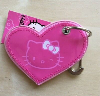 Sanrio Hello Kitty Faux Leather Pink Heart Keychain