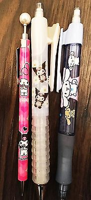 Sanrio Misc Set of 3x Mechanical Pencils/Pens (My Melody, Kuromi, Cinnamoroll)