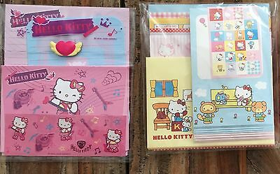 Set of 2x Hello Kitty Letter Sets w/ Stickers (rock and roll/classic HK)