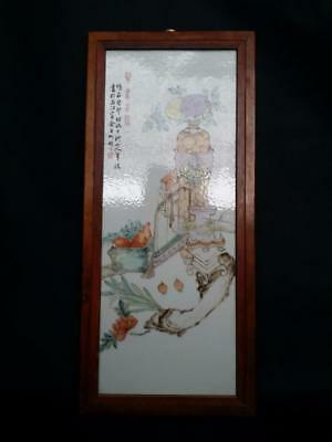 Chinese Porcelain Plaque 21.5x48cm