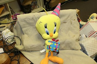 Warner Bros Looney Tunes Tweety Bird Birthday Plush Stuffed Doll Bean Toy