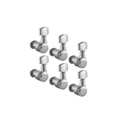 Schaller 6-in-line 10mm Locking Tuners - Satin Chrome - Right Handed